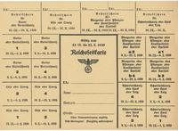 World War II German food ration card for butter, margarine, oils, and cheese