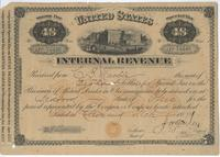 Tax Stamp for retail dealer in oleomargarine issued in Bedford, Ohio