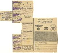 World War II German used food ration card for butter, cheese, and curd cheese
