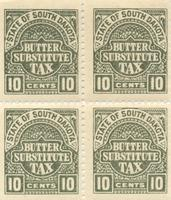 State of South Dakota Butter Substitute Tax Stamp