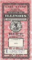 State of Illinois Department of Revenue Beer Case Stamp