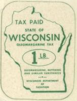 State of Wisconsin Oleomargarine Tax Stamp