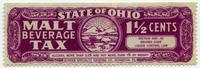 State of Ohio Malt Beverage Tax stamp