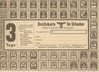 World War II German ration card for bread, sugar, cereal, marmalade, cheese, butter, meat, and coffee substitute