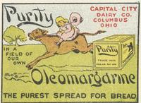 In A Field of Our Own. Purity Oleomargarine: The Purest Spread for Bread.