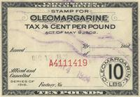 Stamp for oleomargarine