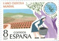 Spanish stamp Commemorating 'Il Ano Oleicola Mundial' / Second World Year of the Olive