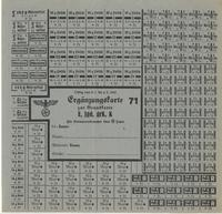World War II German food ration card for cereal, bread, meats, margarine, and butter