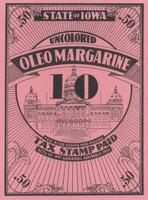 State of Iowa Uncolored Oleomargarine Tax Stamp