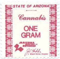 State of Arizona cannabis tax stamp