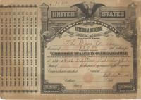 Tax Stamp for wholesale dealer in uncolored oleomargarine issued in Parkersburg, W. Va.
