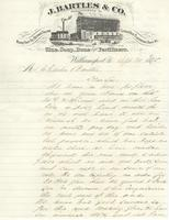 Illustrated letterhead from J. Bartles & Co.