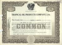 Tropical Oil Products Company, Ltd.