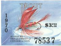 Missouri Department of Conservation Trout Tax Stamp