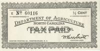 North Carolina linseed oil stamp