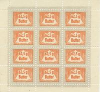 British Forgery of WWII German Butter Rationing Stamps