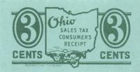 Ohio sales tax consumer's receipt