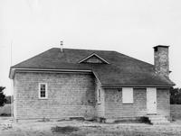 Rear exterior view of newly constructed Blackwater Colored School #207