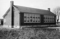 Side and rear exterior view of Georgetown Colored School