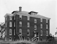 Exterior view of the extension to the girls' dormitory at State College for Colored Students (Delaware State University)