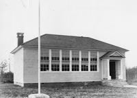 Front exterior view of newly constructed Berrytown Colored School