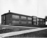 Front and side exterior view of Richardson Park White School with 1930 addition