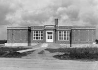 Front exterior view of Ellendale White School
