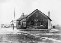 Exterior view of Bridgeville Colored School prior to new construction