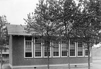 Rear exterior view of Dagsboro White Portable School