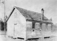 Exterior view of Ross Point Colored School prior to new construction