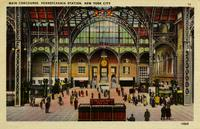 Pennsylvania Station, Main Concourse in New York, N.Y.