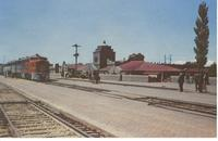 Sante Fe Streamliner and Station in Albuquerque, N.M.