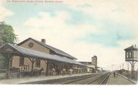 Pennsylvania Railway Station in Bourbon, Ind.