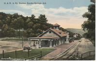 Missouri & North Arkansas Railway Station in Eureka Springs, Ark.