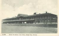 Santa Fe Station and Hotel in Dodge City, Kan.
