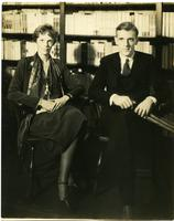 Amelia Earhart and unidentified man