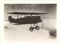 Fokker D.VII German fighter aircraft in flight