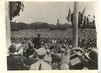 Greatest Welcome for Lindbergh at National Capital