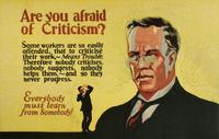 Are You Afraid of Criticism?