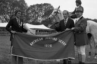 Winner and judges at the 1976 American Jumping Derby
