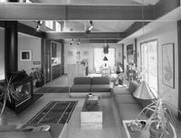 Living room at the International Lead Zinc Research Organization house