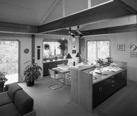 Dining room and kitchen at the International Lead Zinc Research Organization house