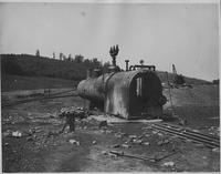 Radial-stay boiler after explosion