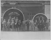 Lukens Steel Company managers and executives with heads on Atlantic City Boardwalk
