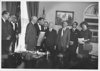 Charles Lukens Huston, Jr. presenting Coatesville Declaration of Economic Freedoms to President Eisenhower