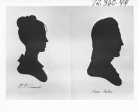 Silhouettes of M. W. Pennock and Jessie Coates