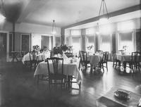 Dining room, likely in the Coach and Four Inn, Coatesville, Pa.