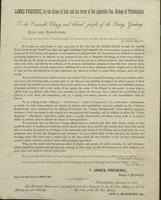 Statement, James Frederic to the Venerable Clergy and beloved people of the Laity, 1864-01-19