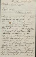 Correspondence, H.B. Hanmore to Franklin B. Gowen, 1875-01-04
