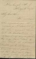 Correspondence, Howard B. Hanmore to Franklin B. Gowen, 1875-05-03